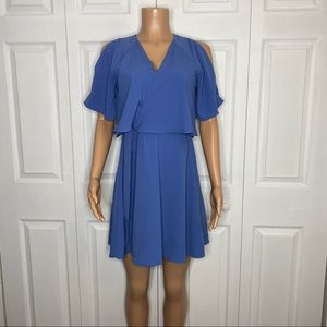 GB Blue Slit Sleeved CrissCross Front Dress Size M